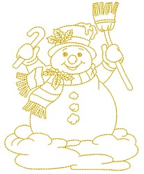 Merry Snowman embroidery design
