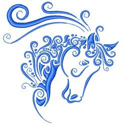 Horse Swirls embroidery design