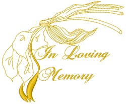 In Loving Memory embroidery design