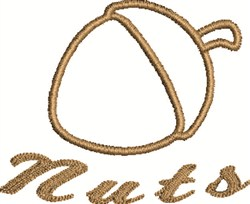 Acorn Nuts embroidery design