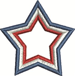 3 Color Star embroidery design