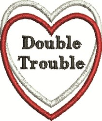 Trouble Heart embroidery design