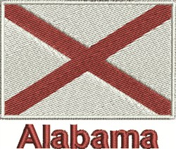 Alabama Flag embroidery design
