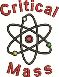 Critical Mass embroidery design