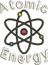 Atomic Energry embroidery design
