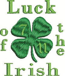 Clover Luck embroidery design