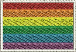 Gay Flag embroidery design
