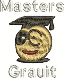 Graduate embroidery design