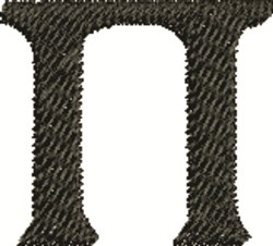 Pi Symbol embroidery design