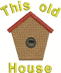 Old Bird House embroidery design