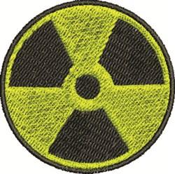Radioactive Symbol embroidery design