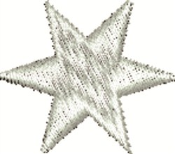 6 Point Star embroidery design