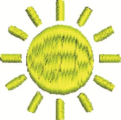 Sun embroidery design
