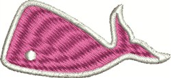 Pink Whale embroidery design
