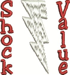 Shock Value embroidery design