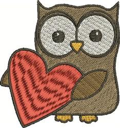 Valentine Owl embroidery design