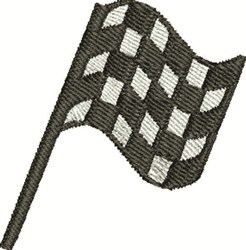 Checkered Flag embroidery design