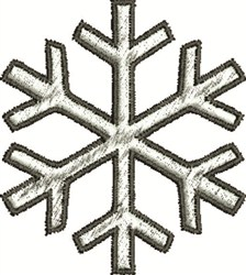 Outlined Snowflake embroidery design
