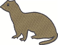 Ferret embroidery design