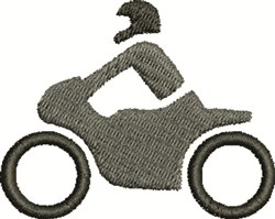 Motorcycle & Rider embroidery design