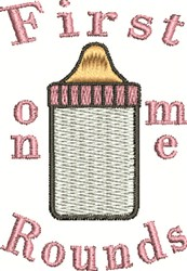 First Bottle embroidery design