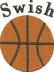 Basketball Swish embroidery design