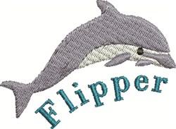 Flipper Dolphin embroidery design