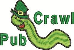 Irish Pub Crawl embroidery design