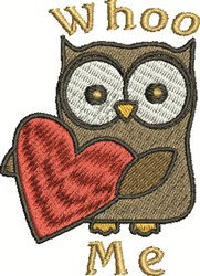 Whoo Owl embroidery design