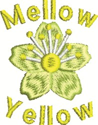 Mellow Yellow Flower embroidery design