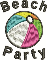 Beach Party embroidery design