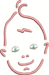 Baby Face embroidery design