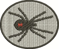 Black Widow Emblem embroidery design