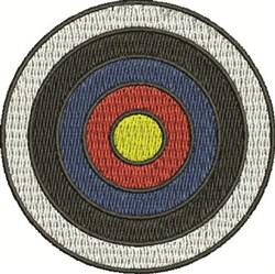 Bullseye embroidery design