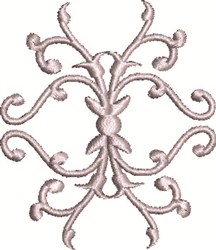 Swirls embroidery design