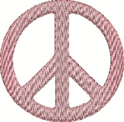 Pink Peace Sign embroidery design