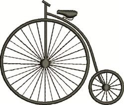 Vintage Bike embroidery design