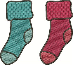 Two Socks embroidery design