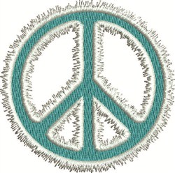 Fuzzy Peace Sign embroidery design