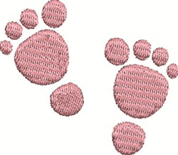 Pink Feet embroidery design