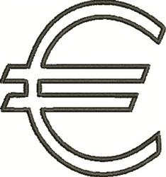 Outline Monetary Symbol embroidery design