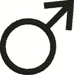 Male Symbol embroidery design