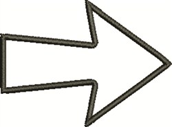Outline Arrow embroidery design