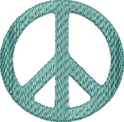 Blue Peace Sign embroidery design