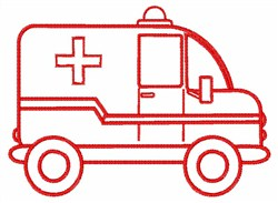 Ambulance Outline embroidery design