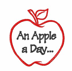 An Apple embroidery design