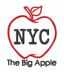 Big Apple embroidery design