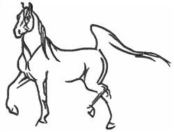 Arabian Horse embroidery design