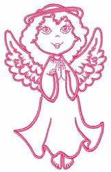 Angel Outline embroidery design