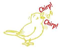 Chirp Chirp embroidery design